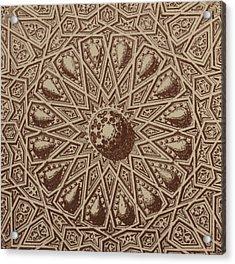 Arabian Textile Pattern Acrylic Print