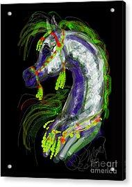 Arabian With Green Tassles Acrylic Print