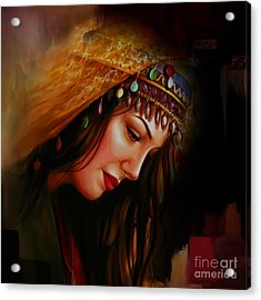 Arabian Woman 043b Acrylic Print by Gull G