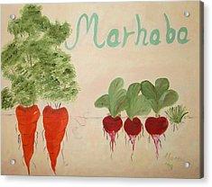 Arabic Welcome To My Kitchen Acrylic Print by Alanna Hug-McAnnally