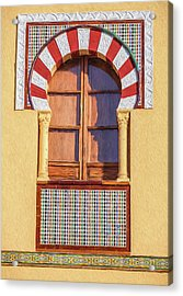 Arabic Window Of Spain Acrylic Print by David Letts