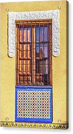 Arabic Window Of Spain II Acrylic Print by David Letts