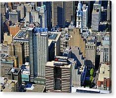 Aramark Psfs Buildings 1101 Market St Philadelphia Pa 19107 2926 Acrylic Print by Duncan Pearson