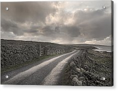 Aran Islands Seaside Drive Acrylic Print by Betsy Knapp