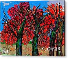 Arboles - Figuras Acrylic Print by Carlos Camus