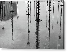 Arbres Lumineux In The Rain Paris  Acrylic Print