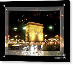 Arc De Triomphe By Bus Tour Greeting Card Poster V1 Acrylic Print by Felipe Adan Lerma