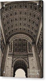 Arc De Triomphe Interior Acrylic Print