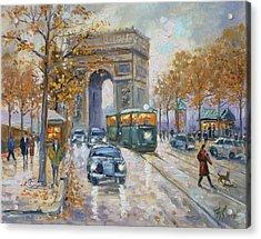 Arc De Triomphe, Paris Acrylic Print