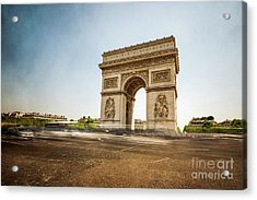 Acrylic Print featuring the photograph Arc De Triumph by Hannes Cmarits