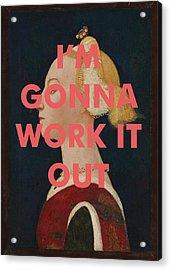 Arcade Fire Lyrics Art Print                                  Acrylic Print