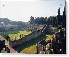 Acrylic Print featuring the photograph Arcaded Court Of The Gladiators Pompeii by Marna Edwards Flavell
