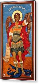 Arch Angel - St Michael Acrylic Print by Bill Cannon
