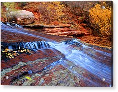 Arch Angel Falls In Zion Acrylic Print by Pierre Leclerc Photography
