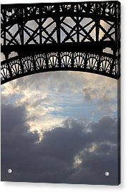 Acrylic Print featuring the photograph Arch At The Eiffel Tower by Heidi Hermes