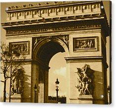 Arch De Triumph Acrylic Print by Santiago Rodriguez