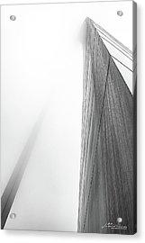 Arch In Fog Acrylic Print by Jae Mishra