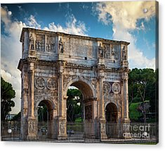Arch Of Constantine Acrylic Print by Inge Johnsson