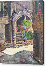 Arch Of Eze Acrylic Print by Albert Fendig