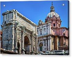 Acrylic Print featuring the photograph Arch Of Septimius Severus At The Roman Forum by Eduardo Jose Accorinti