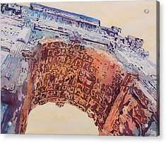 Arch Of Titus Two Acrylic Print by Jenny Armitage