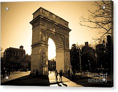 Arch Of Washington Acrylic Print by Joshua Francia