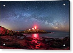 Arch Over Nubble - Panorama Acrylic Print by Michael Blanchette