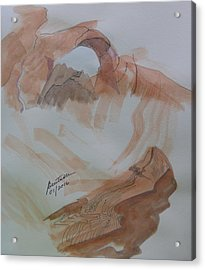 Acrylic Print featuring the painting Arch Rock - Sketchbook Doodle by Joel Deutsch