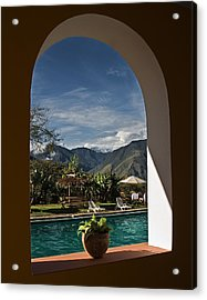 Arch View Acrylic Print by Ron Dubin
