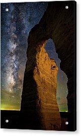 Arch Ways And Milky Ways Acrylic Print by Darren White