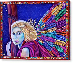 Acrylic Print featuring the painting Archangel Ariel by Lori Miller