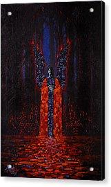 Archangel Evokes Through Nights Womb Acrylic Print by Stephen Lucas