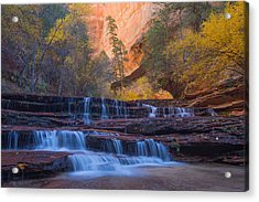 Acrylic Print featuring the photograph Archangel Falls In Autumn by Patricia Davidson