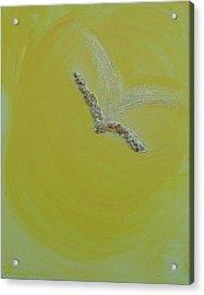 Archangel Gabriel Acrylic Print by Emerald GreenForest