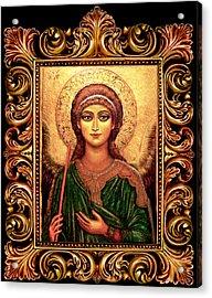 Archangel Gabriel Acrylic Print by Ananda Vdovic