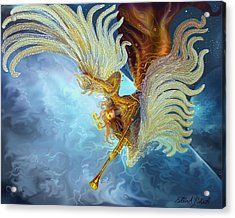 Acrylic Print featuring the painting Archangel Gabriel by Steve Roberts