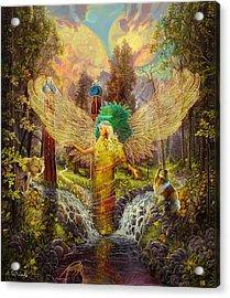 Archangel Haniel Acrylic Print by Steve Roberts