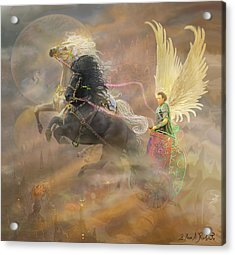 Acrylic Print featuring the painting Archangel Metatron by Steve Roberts