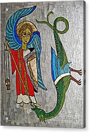 Archangel Michael And The Dragon    Acrylic Print