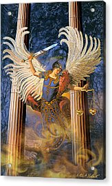Acrylic Print featuring the painting Archangel Raguel by Steve Roberts