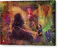 Archangels Ariel And Metatron Acrylic Print