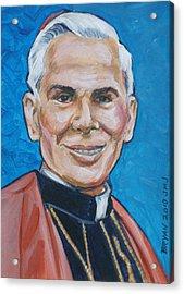 Archbishop Fulton J. Sheen Acrylic Print by Bryan Bustard