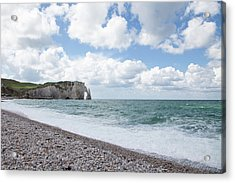 Arch At Etretat Beach, Normandie Acrylic Print
