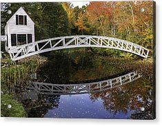 Arched Bridge-somesville Maine Acrylic Print by Thomas Schoeller