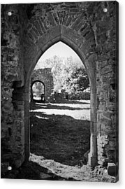 Arched Door At Ballybeg Priory In Buttevant Ireland Acrylic Print by Teresa Mucha