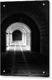Arched Hallway In Palma Acrylic Print