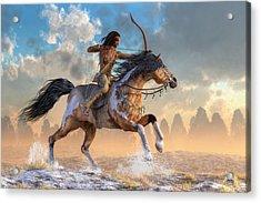 Archer On Horseback Acrylic Print by Daniel Eskridge