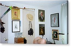 Archery And Art And Camera And Historypart Of My Studio Acrylic Print by Mahto Hogue