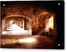 Arches And Beaming Light  Acrylic Print by George Oze