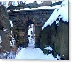 Arches And Bridges - Central Park Nyc Acrylic Print